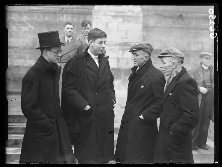 Miners meeting pupils at Eton College       A photograph of Durham miners meeting pupils of Eton College