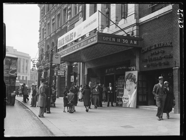 Trocadero Theatre, London       A photograph outside the Trocadero Theatre, London, taken by Tomlin for the Daily Herald newspaper in 1934