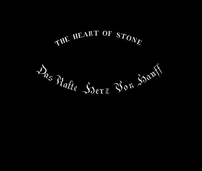 Title lantern slide for The Heart of Stone