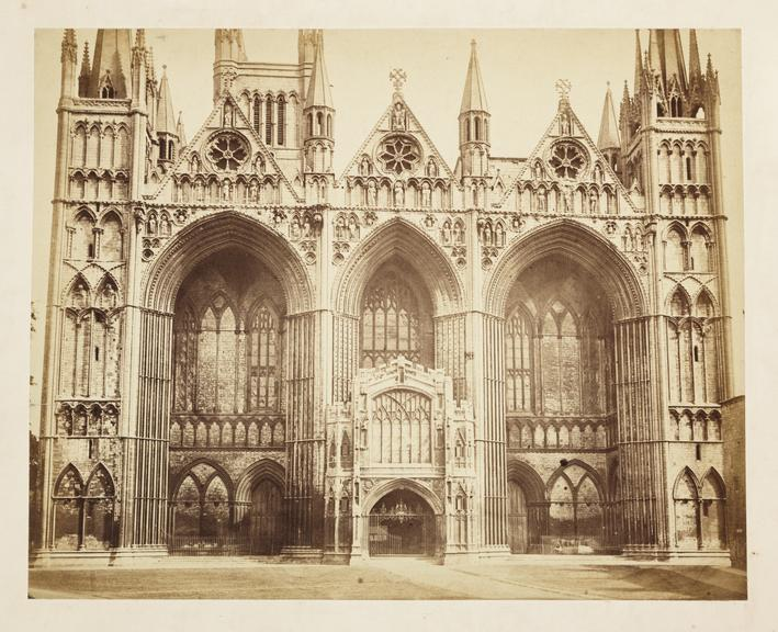 Peterborough Cathedral       A photograph of the West Front of Peterborough Cathedral, or the Cathedral Church of St