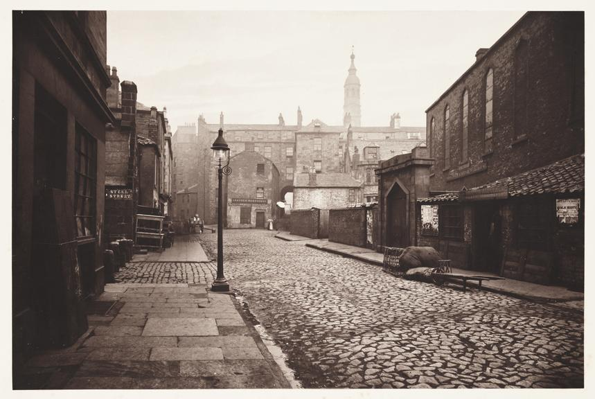 'Low Green Street', 1868       A photograph of Low Green Street, Glasgow, taken by Thomas Annan (1829-1887) in 1868