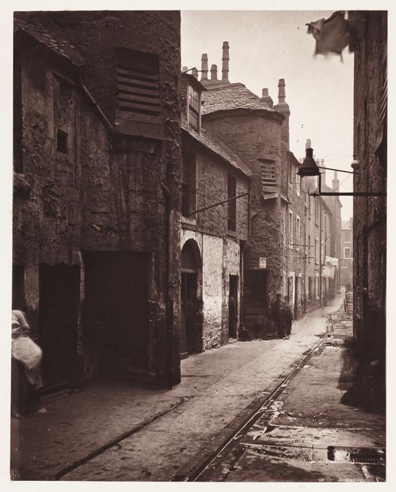 'Close, No.139 Saltmarket', 1868       A photograph of a close behind No. 139 Saltmarket in Glasgow,  taken by Thomas Annan (1829-1887), in 1868