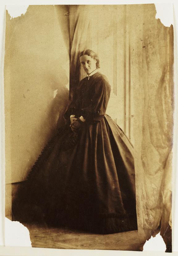 Possible self-portrait of Clementina, Lady Hawarden       A photograph that is possibly a self-portrait of Clementina, Lady Hawarden (1822-1865), taken in about 1862