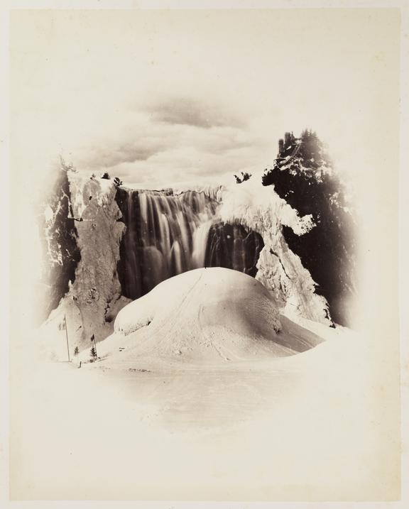 'Montmorency Falls Winter', 1860       A photograph of Montmorency Falls near Quebec City, Canada