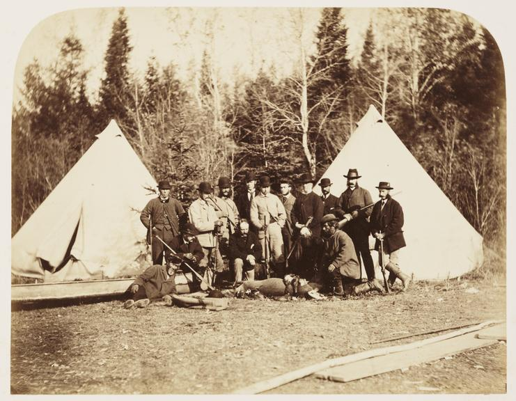 'Prince Arthur's Hunting Party'       A photograph of a hunting party with their kill