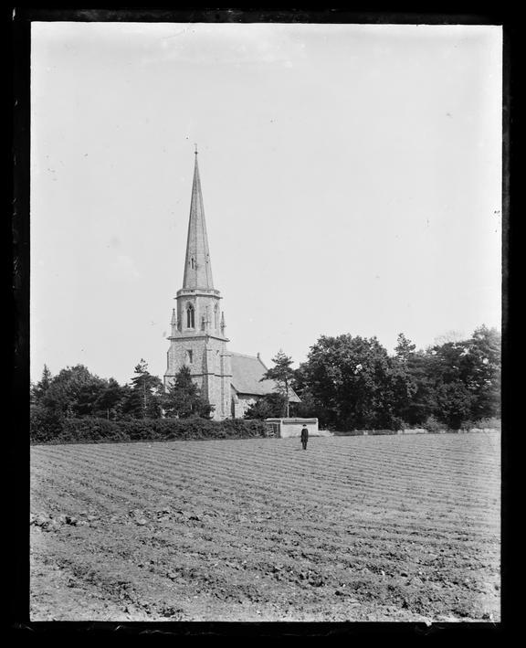 'Greenstead Green Church', about 1900       A photograph of Greenstead Green village church, near Halstead in Essex, taken by Edgar Tarry Adams (1852-1926)