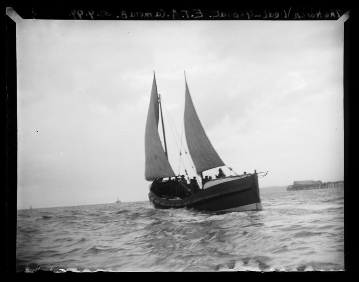 'The North Deal Lifeboat', 1899       A photograph of the North Deal lifeboat off the coast of Deal, Kent, taken by Edgar Tarry Adams (1852-1926)