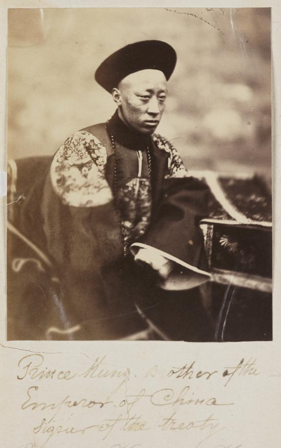 'Prince Kung'       A photograph of Prince Kung, brother of the Chinese Emperor, taken by Felice Beato (1825-1903) in 1860