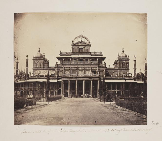 The Kaiserbagh, Lucknow       A photograph of the Kaiserbagh in Lucknow, India, taken by Felice Beato (1825-1903) in 1858
