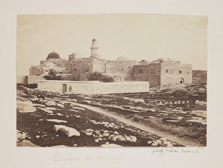 'Tombeau de David'       A photograph of King David's Tomb, Jerusalem, Israel, probably taken by Robertson, Beato and Co in about 1857