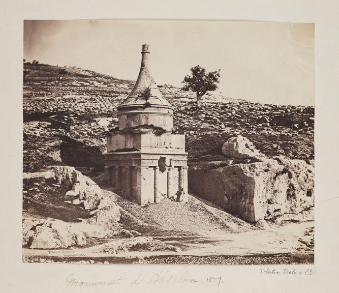 'Monument d'Absalom'       A photograph of the Monument to Absalom, Israel, taken by Robertson, Beato and Co in 1857