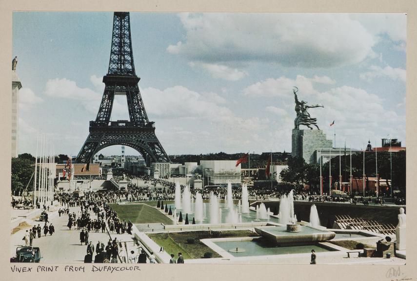 Paris World's Fair, 1937       A Vivex colour photograph showing a general view of the Paris World's Fair (Exposition Internationale) of 1937