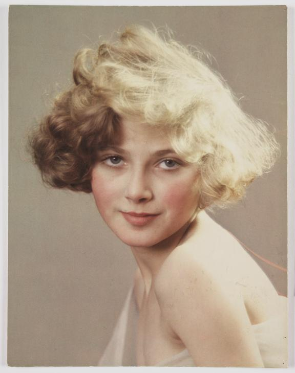 Portrait of a young woman, 1932       A Vivex colour photograph of a young woman, taken by Herbert Lambert (1881-1936) in 1932