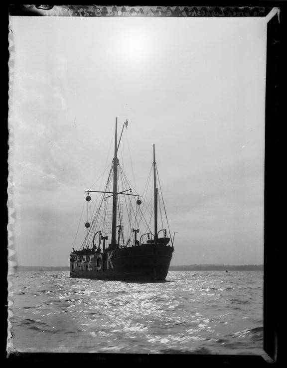 'Wreck Lightship', 1901       A photograph of a wreck lightship off the coast of England, taken by Edgar Tarry Adams (1852-1926) on 27 September