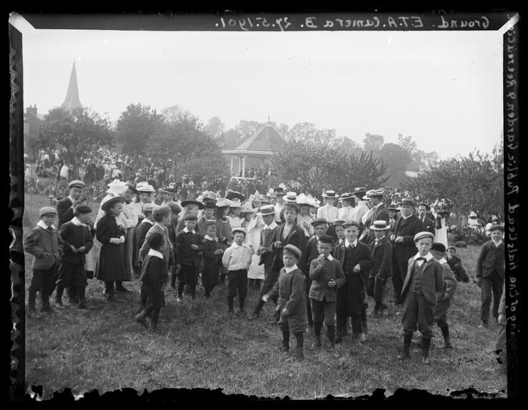'Opening Of The Halstead Public Garden And Recreation Ground', 1901       A photograph of celebrations to mark the opening of Halstead Public Garden and Recreation Ground, Essex