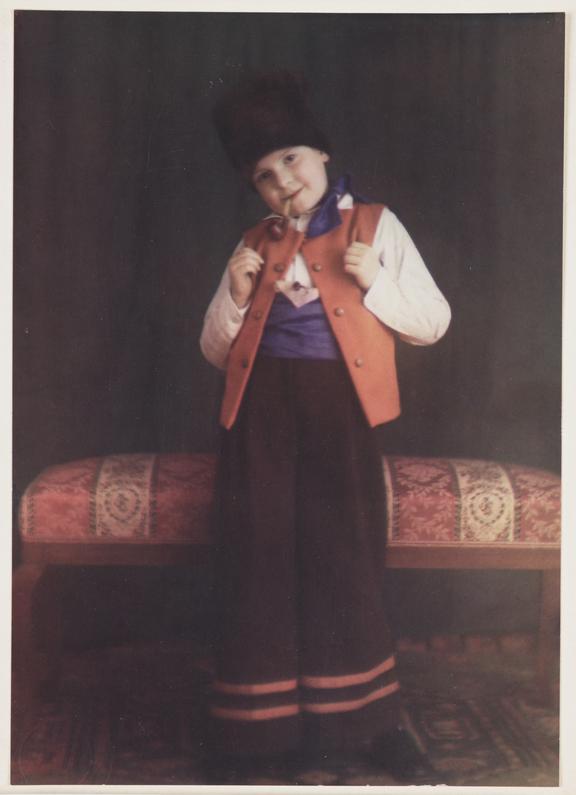 Child dressed in Eastern European costume