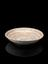 Porcelain bowl, with charm inscription, Islamic. Three quarter front view. Black background