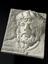 Relief plaque of Maimonides by Doris Appel, plaster of paris, 1958. Three quarter view. Black background