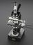 Research microscope, Nikon L-Ke fitted with binocular eyepiece and quintuple turret with five objective lens (two by