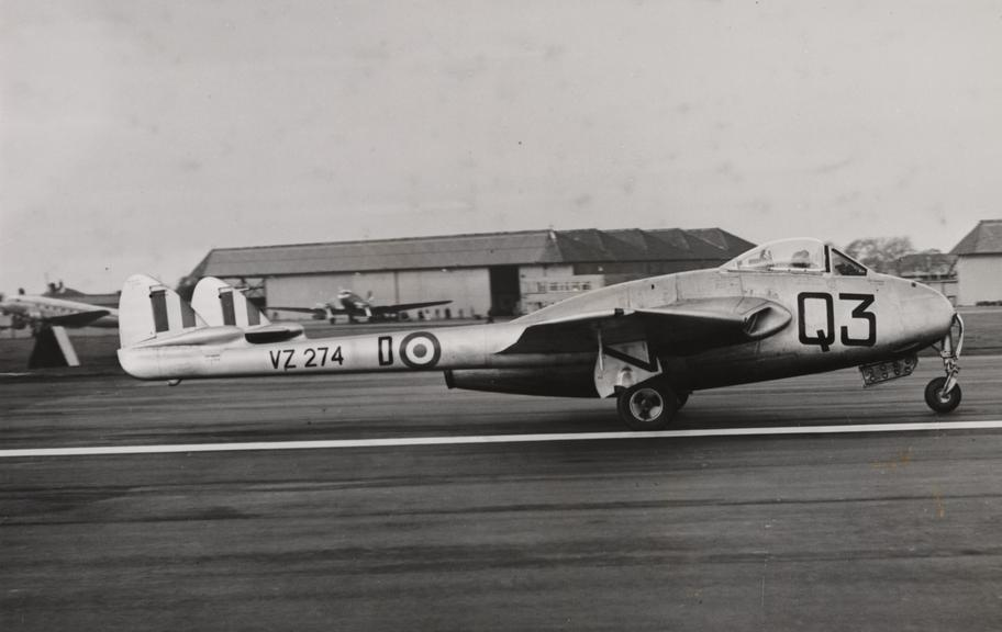 A D H Vampire aircraft       A photograph of a D H Vampire aircraft, taken by Bert Abell for the Daily Herald newspaper in 1951