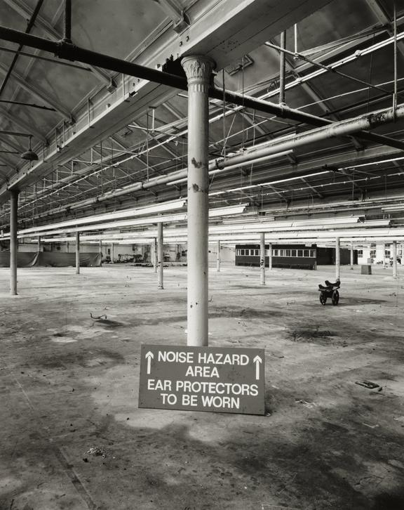 'Empty weaving shed, Salt's Mill, Saltaire', about 1986