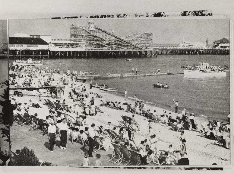 'Clacton seafront'       A photograph of the seafront at Clacton-on-Sea, Essex in about 1963
