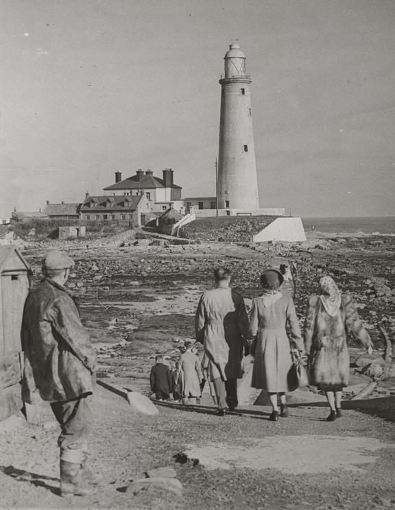 St. Mary's Lighthouse, Whitley Bay       A photograph of St. Mary's Lighthouse, Whitley Bay, Northumberland, taken in 1949