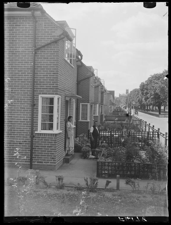 Council Estate at Hanwell       A photograph of a council housing estate in Hanwell, West London, taken in 1937