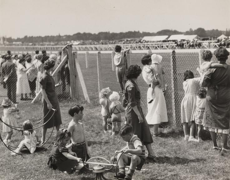 Ascot Races, children's creche       A photograph of the children's creche at Ascot Races, taken in July 1955 by F Greaves for the Daily Herald.