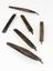 Whalebone hair curlers, 6.  Front view of whole object against white background