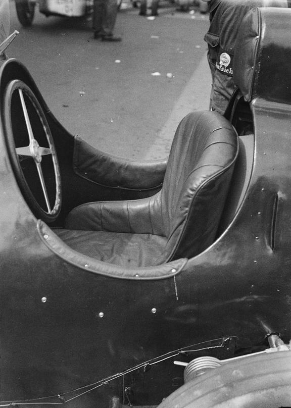Side view of an empty racing car seat