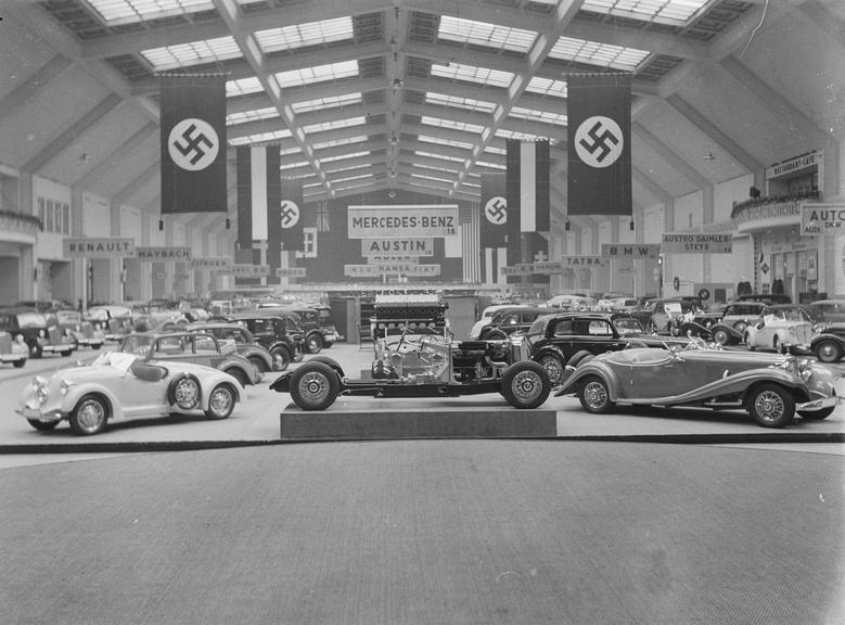 Overview of Mercedes Benz display at Berlin Exhibition