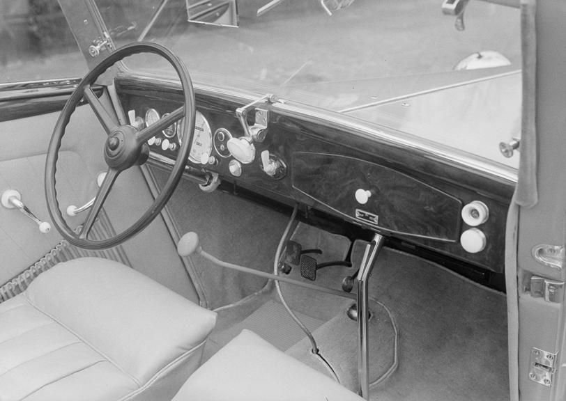 Interior & dashboard of a BMW car