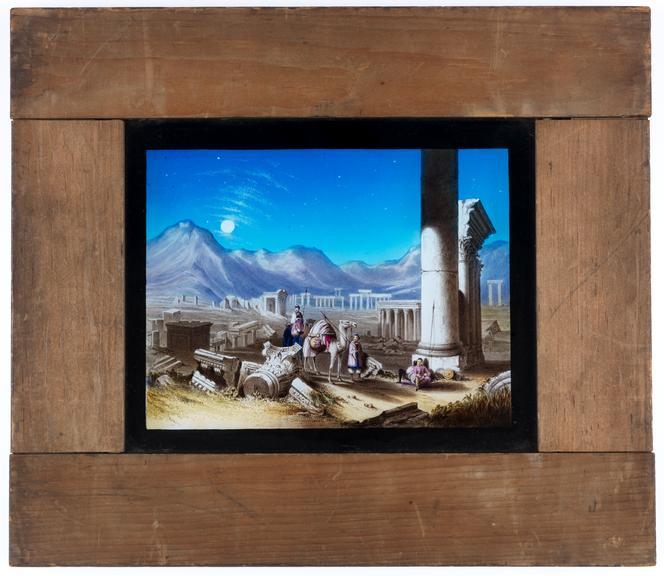 Royal Polytechnic magic lantern slide: Egyptian landscape