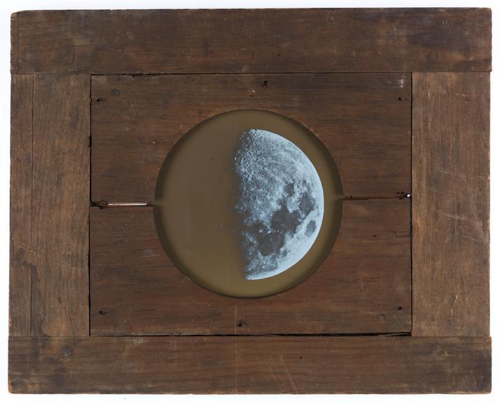 Royal Polytechnic Institution magic lantern slide: Moon
