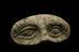 Votive eyes, bronze, Roman, 200BC-100AD. Black background.