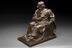 Bronze statuette of Joseph Lister. Full 3/4 view, graduated grey background.