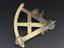 Sextant made by Joseph Jackson, London, about 1759. Polished brass frame and limb, a hole in the centre strut may have