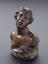 """Plaster bust, Niobe? Prepared for copying by addition of base and hole in head and base, 6"""" high. Front three quarter"""