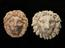 """Group shot of, from left to right 1924-792/2045, 1  Wood Lions head,  """"Spring 1809""""  and  1926-1075/369, 1 English"""
