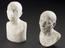 """Group shot from left to right of 1926-1075/340, 1 Reproduction in alabaster, man, No. 339, hole in base of bust, 6 1/4"""""""