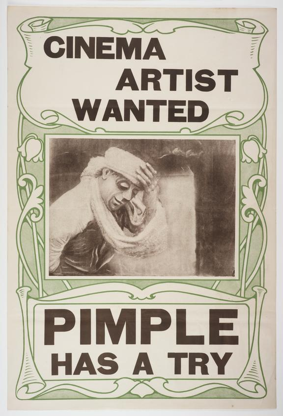Poster for the film Pimple as a Cinema Actor, 1913