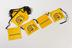 Advertising bunting for display in pubs - black tape with 31 flags, design on flags is yellow background with