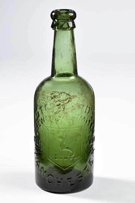 Stepford's bottle.Photographed straight on view on a white background.