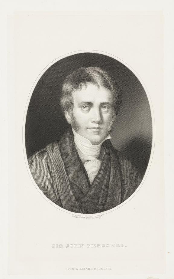 Portrait of Sir John Herschel, 1875.