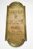 Brass plate inscribed 'Park House  Mather & Platt Limited Engineers', saved from the building when it was demolished in