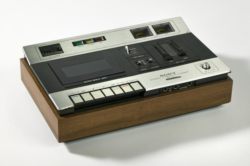 Tape deck used with Nascom computer.Photographed on a white background.