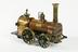 locomotive model.Photographed on a white background.