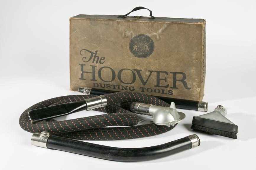 Hoover model 700 electric vacuum cleaner.Photographed on a white background.
