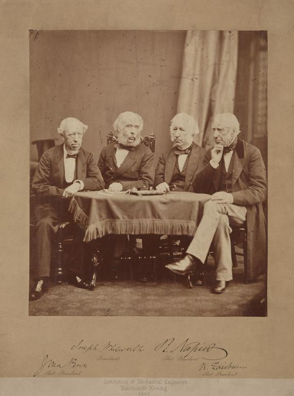 John Penn, Joseph Whitworth, John Napier, W. Fairburn.